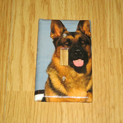 Beautiful Lovable German Shepherd Dog Light Switch Cover Plate #3