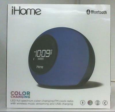 NEW iHome IBT29 Bluetooth Color Changing Dual Alarm Clock Radio $90