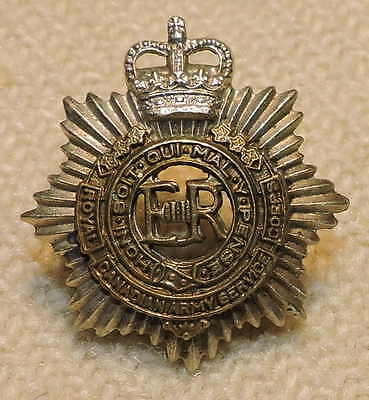 Post Ww2 Royal Canadian Army Service Corps Rcamc Brass White Metal Collar Badge
