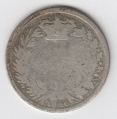 1846 Great Britain One 1 Shilling Victoria Sterling Silver World Coin