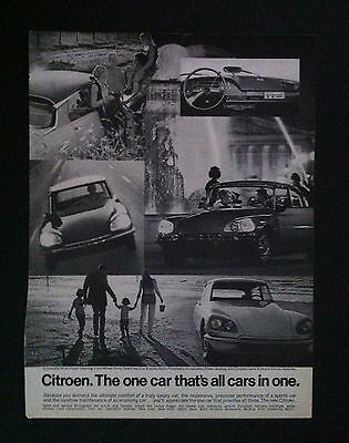 1969 Citroen DB original 1 pg car ad 1968