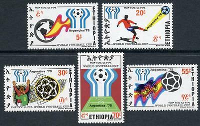 Ethiopia: 1978 World Cup Soccer (884-888) MNH