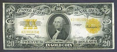 """1922 $20 """"solid"""" Gold Seal Historic Gold Coin Certificate!"""