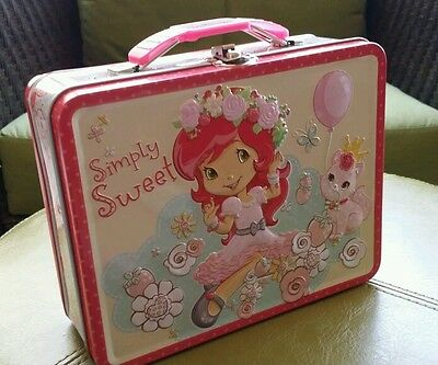 "TIN LUNCH BOX,  ""Simply Sweet""  Straeberry Short Cakes By -Tin Box"