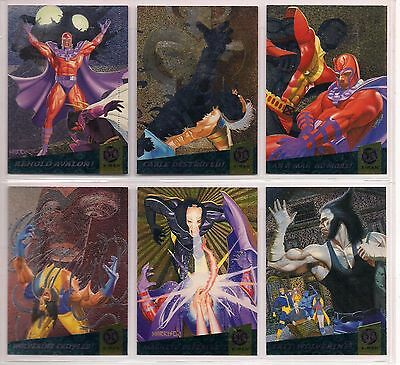 1994 Marvel Fleer Ultra X-Men Complete Fatal Attractions Chase Card Set Nm