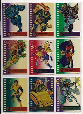 1995 Marvel Ultra X-Men Complete Suspended Animation Chase Card Set Of 10 Nm