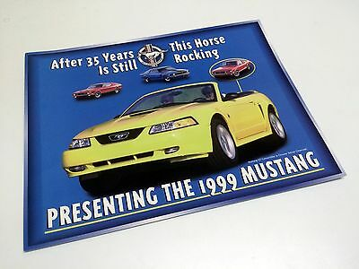 1999 Ford Mustang Redesign Launch Information Sheet Brochure