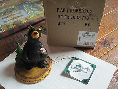 """Big Sky Carvers Bearfoots Bears  #50902 """" Friends """" CABIN Collectible woodland"""