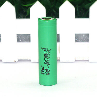 1 Samsung original 18650 lithium discharge 25R 20a 2500MAH HIGH DRAIN