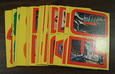 1980 Topps Star Wars Empire Strikes Back Series 1 Complete 33 Yellow Sticker Set