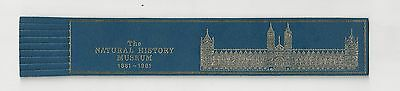 The Natural History Museum. Blue Leather English Bookmark.