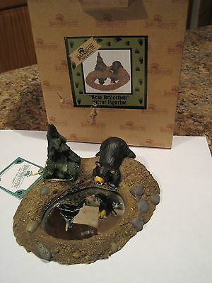 """Big Sky Carvers Bearfoots Bears #50332 """"Reflection """" Collectible CABIN Rustic"""