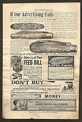 Vintage Ad From The Cosmopolitan Magazine - Maher & Grosh Knives