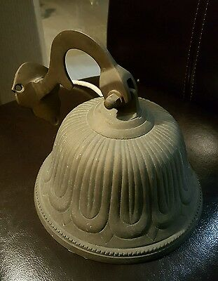 Vintage LARGE NEW ORLEANS FRENCH QUARTER Brass Nautical -Ship's BELL, BAR HOTEL