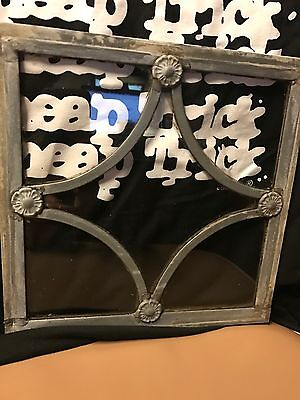 vintage leaded glass Stain Glass window pane  Victorian Gothic steam punk