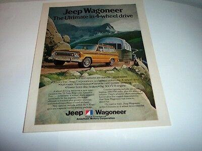 1974 JEEP WAGONEER  Photo Print Vintage Ad-The Ultimate in 4 Wheel-Towing