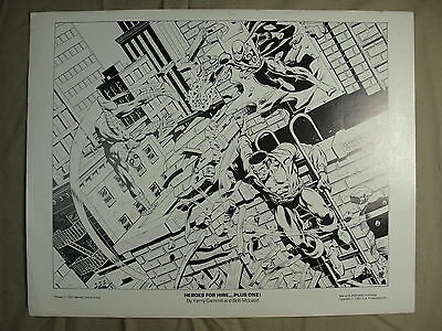 Marvel Comics Group Team Up Portfolio 1981 Heroes For Hire... Plus One! Vintage