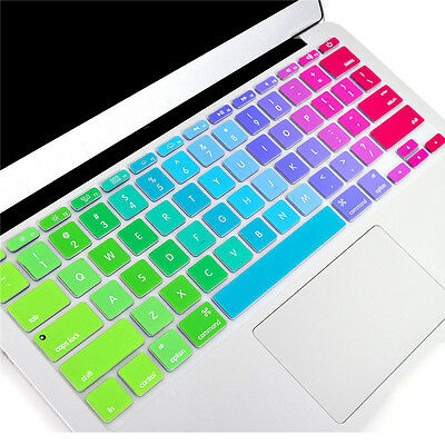 Per Apple Macbook Air Pro 33cm 38.1cm Silicone Arcobaleno Tastiera Pellicola