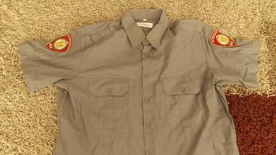 fire department shirt from Croatia with two patches