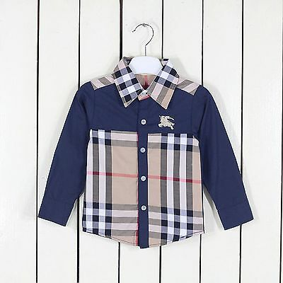 Brand Baby Toddler Boys Kids Cotton Clothes Shirts T-shirt Tops 1-6 Year GG21
