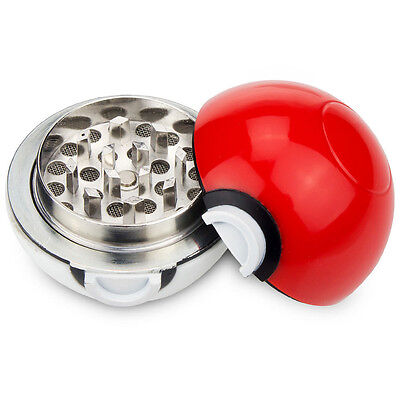 3 Layers Zinc Alloy Hand Crank Herb Mill Crusher Tobacco Smoke Grinder Red