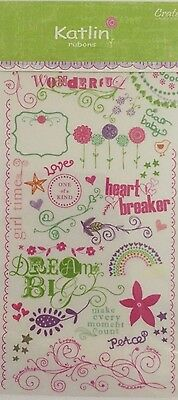 Crate Paper Rub-Ons: Kaitlin **BRAND NEW**
