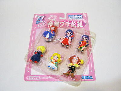SAKURA WARS PETIT HANAGUMI MINI FIGURE SET of 6 SAKURA TAISEN SEGA JAPAN USED