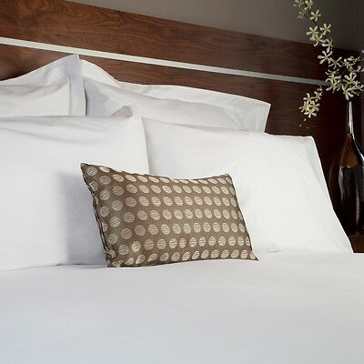 8 x PILLOW CASES, White, Top Quality, Ex Hotel, Housewife Style. Slight seconds