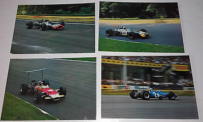 1968 Italy Grand Prix(Monza)Real Photo Postcard(Jackie Stewart Ford)