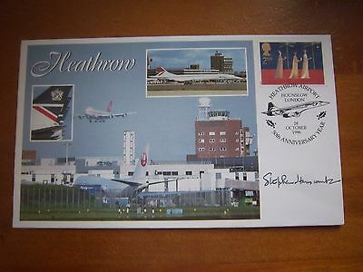 Stephen Hanscombe Signed Heathrow Ltd Edition Concorde Flown Cover 5/10 Issued