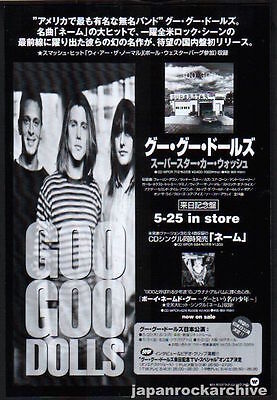 1996 Goo Goo Dolls photo Superstar Car Wash JAPAN album press ad / advert gg6r