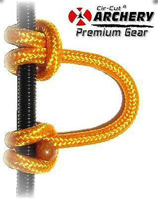 30 Inches Cut Into 4 Gold Braided Compound Bow String Release D Loop Archery