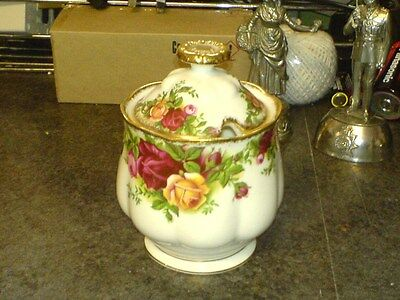 "Royal Albert - Old Country Roses - 'marmalade/jam Pot - 4 1/2"" - 1962 Backstamp"