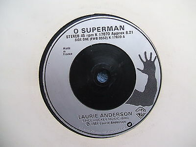 "Rare 1981 Laurie Anderson O Superman 7"" 45Rpm"