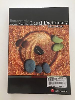 Butterworth's Concise Australian Legal Dictionary by P. J. Butt (Paperback,...