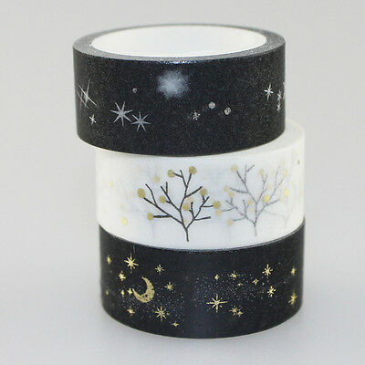 15mm*5m Gold Foil Printing Japanese Washi Paper Tape Sticker Adhesive Top Sale