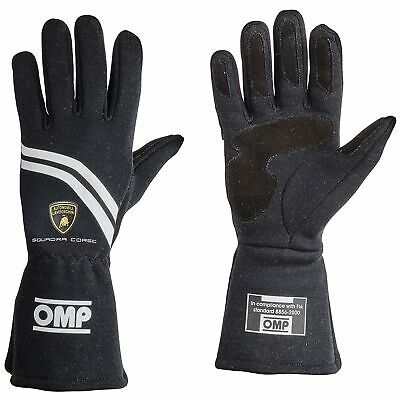 OMP Dijon FIA Approved Nomex Race Gloves Black Automobili Lamborghini Collection
