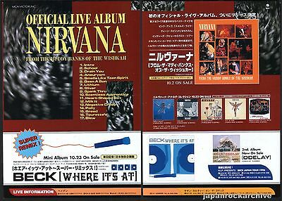 1996 Nirvana From The Muddy Banks of The Wishkah JAPAN press print ad advert 11r