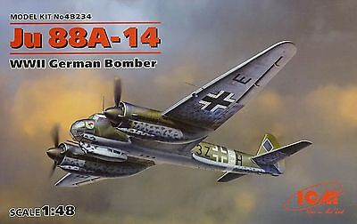 ICM 48234 WWII German Bomber Ju88A-14 in 1:48