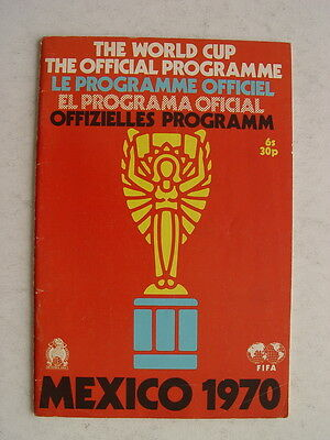 1970 World Cup in Mexico Official Programme
