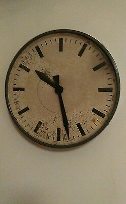 Large Vintage Industrial Factory Clock