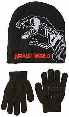 Boys' Jurassic Park Sharp Tooth Beanie hat and Glove, Multi, One Size