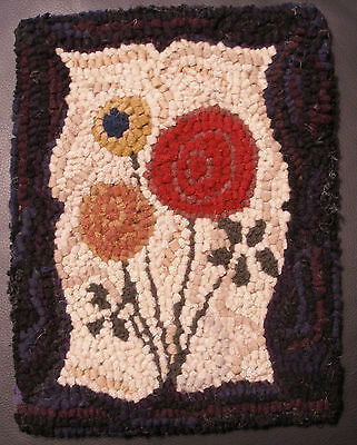 OLD TYME POSIES  Primitive Rug Hooking KIT WITH #8 CUT WOOL STRIPS