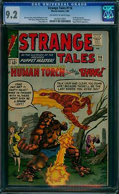 Strange Tales # 116  The Human Torch vs the Thing !   CGC 9.2 scarce book !