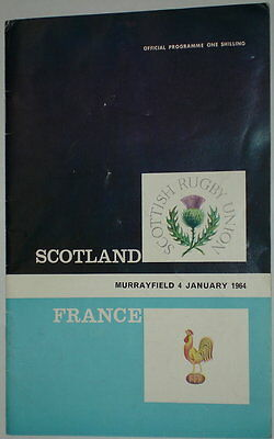 Scotland France Rugby Union Programme 1964