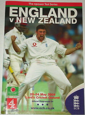 England New Zealand Cricket Programme Lords Test 2004