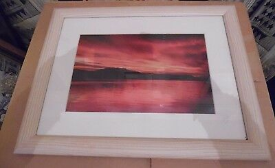 Dawn On Loch Lomond Print Mounted And Framed Limited Edition