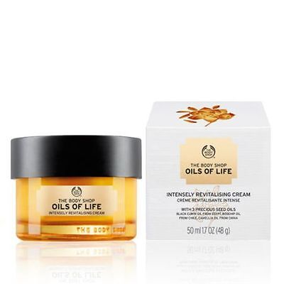 BODY SHOP OILS OF LIFE INTENSELY REVITALISING CREAM 50ml NEW BOXED