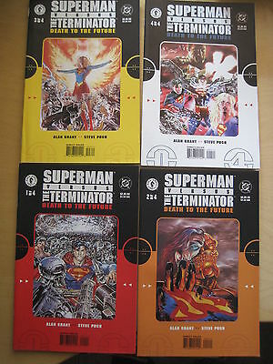 "SUPERMAN vs The TERMINATOR : ""DEATH to the FUTURE"".COMPLETE 4 ISSUE SERIES. 1999"
