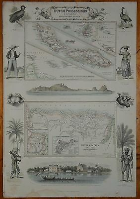 Curacao, Dutch Possesions In South America And The West Indies. 1874.